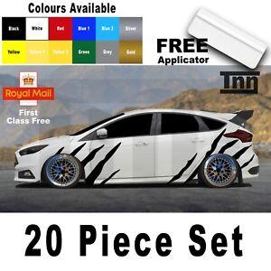 Ford Focus Fiesta Escort ST RS Tiger Stripes Decals Stickers Vinyl Graphics