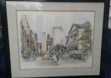 "Pat Coffman Huss Signed Print ""Michigan Avenue - The Art Institute of Chicago"""