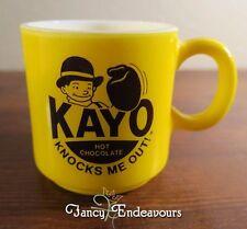 Kayo Hot Chocolate Knocks Me Out Advertising Milk Glass Mug