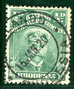 RHODESIA BSACo KGV Halfpenny Stamp Admiral 1920 CDS ½d Used {samwells}EBLUE26