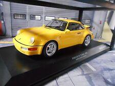 PORSCHE 911 964 Turbo Coupe 1990 yellow gelb NEW NEU Minichamps Diecast  1:18