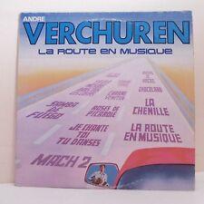 """33T André VERCHUREN Disque Vinyle LP 12"""" LA ROUTE EN MUSIQUE - AZ 65528 Musette"""