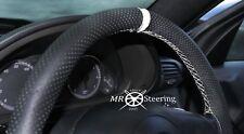 VOLANTE in Pelle Perforata Copertura per Mercedes SLK R170 96-04 + cinturino bianco