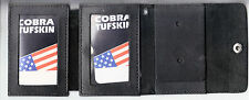 Double ID Police/Fire/Security Badge Snap Closure Wallet (Badge Not Included)