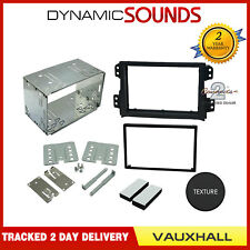 CT23VX20 Double Din Fascia Fitting Adaptor Kit Black For Vauxhall Agila 08-2015