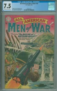 All-American Men of War #18 CGC 7.5 VF- Kanigher, Vern and Chapman stories 1955
