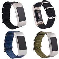 Sports Nylon Weave Ersatz Armband Strap Uhrenarmband für Fitbit Charge 2 Tracker