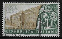 Italy Scott #598, Single 1952 Complete Set FVF Used