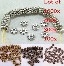 Hot 1000pcs/Lots Tibetan Daisy Spacer Metal Beads 4mm Jewelry Making Wholesale