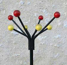 PORTE MANTEAU PERROQUET BOULE, perroquet design à boules, vintage, jaune & rouge
