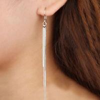Women's Fashion Jewelry Silver Plated Long Hook Tassels Drop Dangle Earrings HOT