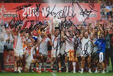 More details for catalans dragons squad signed 12x8 photo - rugby league autograph.