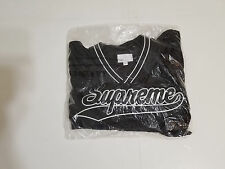Brand NEW Supreme FW16 Black Baseball Warm Up Top Sz Medium Fall Winter Box Log