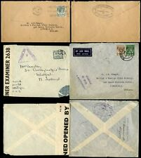 MALAYA + STRAITS SETTLEMENTS KG6 1940-41 CENSORED 3 COVERS to N IRELAND + GB