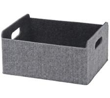 "Ikea Besta Box Gray Moulded Felt Fabric 003.075.52 9 7/8"" X 12 1/4"" X 5 7/8"" New"