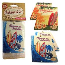Bahama & Co 4 Pack Hanging Car Home Air Freshener Freshner Scent TROPICAL BREEZE