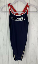 TYR DURAFAST DIAMONDBACK NAVY GUARD LIFEGUARD SWIMSUIT SIZE 38