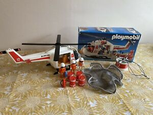Playmobil Helicopter Vintage Set 3789 WITH BOX