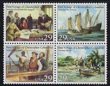 USA - MNH Block of 4 Voyage of Columbus.............#2620 - 2623