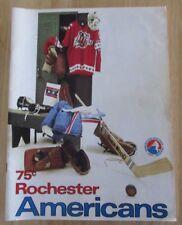 Rochester Americans 1974-1975 Amerks Hockey Magazine vs Nova Scotia Voyageurs