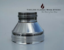 """Flue system adaptor triple wall penetration to cowl stainless steel 6"""" (150mm)"""