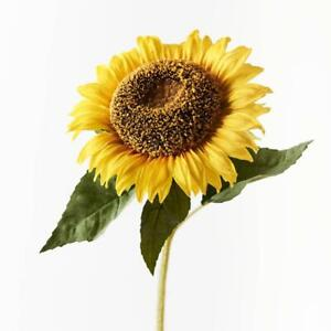 Artificial Silk Premium Sunflower Flower Stem - Yellow (Style 3)