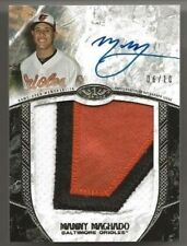 2016 Topps Tier One Manny Machado Auto Patch #d /10 3 Color Baltimore Orioles
