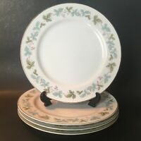 Fine China of Japan Vintage Pattern Set of 4 Dinner Plates - 10-3/8""