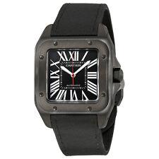 Cartier Santos Automatic Black Dial Mens Watch WSSA0006