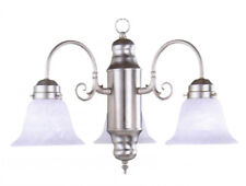 Decorative 3-light Dining / Kitchen Chandelier in Brushed Nickel