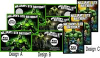 10 THE INCREDIBLE HULK SCRATCH OFF OFFS BIRTHDAY PARTY GAME GAMES CARDS FAVORS