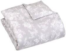 Pinzon 170 Gram Flannel Duvet Cover – Full/Queen, Floral Grey