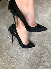 Gorgeous Dune black diamante high heels in size 37-hardly worn!