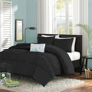1 Piece Center Gathered Duvet Cover 1000 TC Egyptian Cotton Queen Size all color