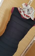 STUNNING JUICY COUTURE BLACK BODY CON DRESS SIZE M/10 AUS  CUTWORK DETAIL BNWT!