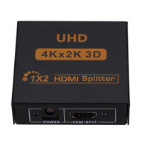 HDMI Splitter One Input And Two Output Support 4K * 2K HD Set-Top Box One-To-Two