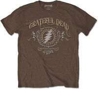 GRATEFUL DEAD Bolt Steal Your Face BROWN T-SHIRT OFFICIAL MERCHANDISE