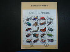 USPS INSECTS & SPIDERS 1999 Butterfly Beetle Stamp Sheet USPS First Day Issue