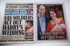 Prince William Kate Royal Baby #3 Photo Album Sunday Express UK newspaper NEW