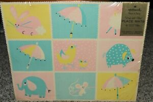 Vintage Hallmark baby Shower PLACE MATS Original Package 12x15 for reveal party