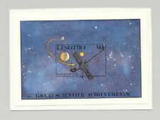 Lesotho #582 Space, Mariner 1v S/S Imperf Chromalin Proof on Card