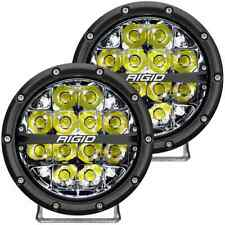 "Rigid 360-Series Round LED Lights - 6"" - Spot - White"