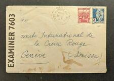 1943 Constantine Algeria Censored Cover to Geneva Switzerland