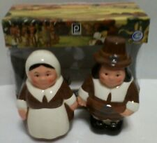 Pilgrim Pair Salt & Pepper Shakers Thanksgiving Publix 2003 Collectible