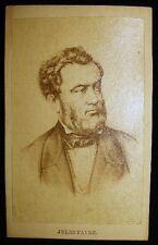 CIRCA 1865 CARTE DE VISITE CDV JULES FAVRE FRANCE