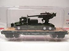 Menards O Gauge Military Flatcar with Army Truck and Gun - NEW!