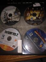 Ps3 Game Lot: inFamous 2 Collection, Lair, Assassins Creed 3, Medieval Moves
