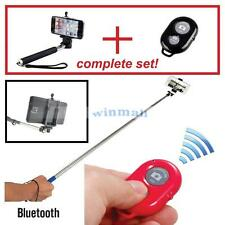 bluetooth selfie stick+ remote shutter  iPhone 4,5,6,  any phone with bluetooth