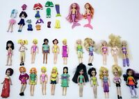 Polly Pocket & Alike Dolls Lot of 25 Completes,11 With Rooted Hair + Accessories