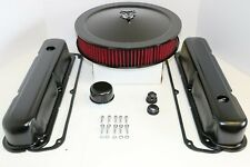 Sb Chrysler Black Engine Dress Up Kit Valve Covers Red Washable Air Cleaner 318